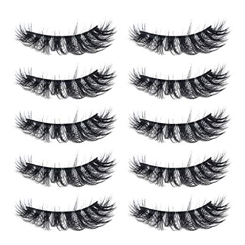 Ktyssp Luxury Makeup 5Pair 3D False Lashes Fluffy Strip Eye Mix lashes Natural Party (B) ()