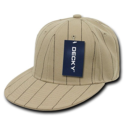 DECKY Pin Striped Fitted Cap, Khaki, 6 7/8