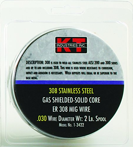 K-T Industries 1-3422 Stainless Steel 308L 030 Mig Wire 2 Lb