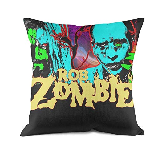 Mawan Marilyn-Manson-and-Rob-Zombie- Cushion Covers Decorative Throw Pillows 18x18 inches]()