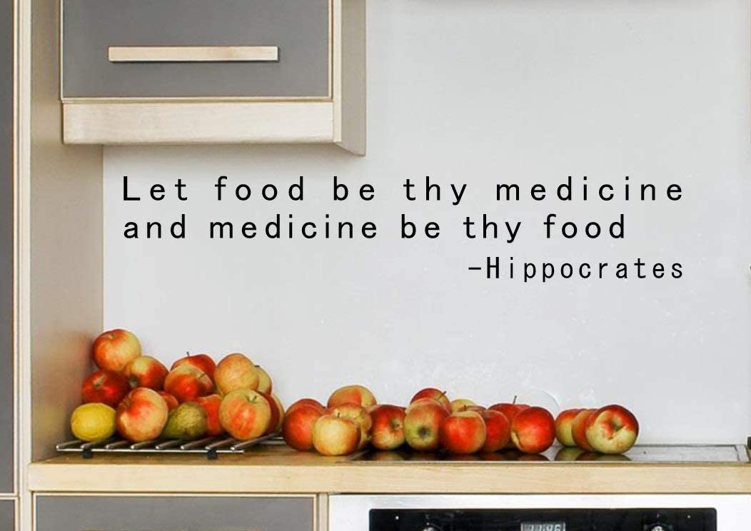 "Food is Medicine Let Food Be Thy Medicine Natural Medicine Health and Wellness Nutrition Wall Art Chiropractic Art Nutrition Gift 8""x42"""