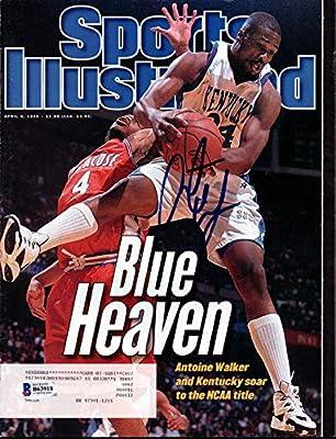 Antoine Walker Autographed Sports Illustrated Magazine Kentucky Wildcats Beckett BAS #B63918 - Beckett Authentication