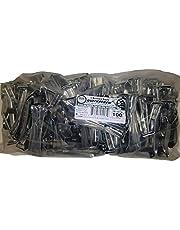 """Quick Screw 5"""" 100 Pack Premium Hidden Rain Gutter Bracket Hook Hangers with screw clip style"""