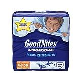 Health & Personal Care : GoodNites Underwear, Boys, Small/Medium, 27 Count