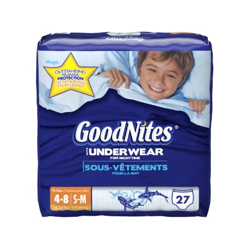 GoodNites Underwear, Boys, Small/Medium, 27 Count