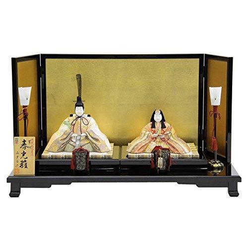 雛人形 平飾り木目込み親王 帯地春光雛25070 幅68cm 3mk8 真多呂 伝統的工芸品   B075GLW3PD