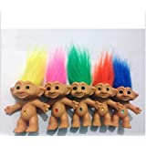 Express$ 2016 one piece 10cm Troll Doll action figure color hair Doll Collect Original Monster highs Doll littlest pet shop cat toys for children