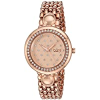 Burgi Women's Quartz Stainless Steel Casual Watch, Color Rose Gold-Toned (Model: BUR170RG)