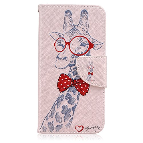- S7 Case, Galaxy S7 Case, Easytop Flip Folio PU Leather Wallet Case With Foldable Stand Cover Built-in Card Slot Cash Pocket Magnetic Closure for Samsung Galaxy S7 SM-G930 (2016) (I Love Giraffe)