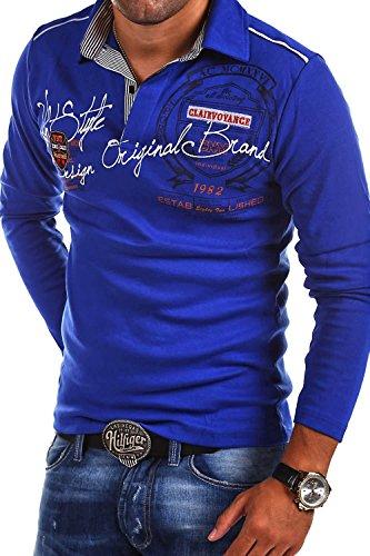 MT Styles Langarm Poloshirt AMBITION T-Shirt R-0682 [Blau, L]