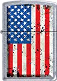 zippo old - Old Glory ~ Battered American Flag ~ Chrome Zippo Lighter Patriotic Colors