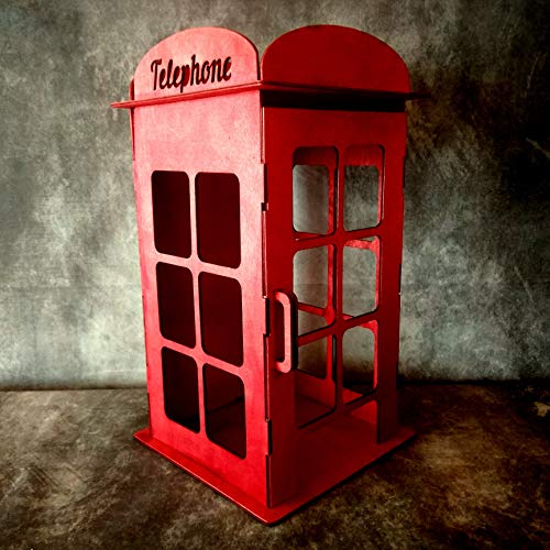 London phone box, miniature dollhouse telephone booth for sale  Delivered anywhere in USA