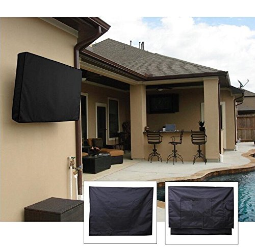 Outdoor TV Cover 40'',41'',42'',43'' - Waterproof TV Enclosure Offers 360-Degree Coverage, Accommodates Single Mounts and Stands - Weatherproof, Dust-Proof, UV Protection - Heavy-Duty, Premium Quality