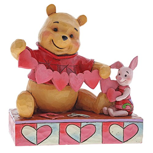 Jim Shore Disney Traditions by Enesco 4059746 Pooh and Piglet Heart (Halloween Piglet)