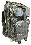Monkey Paks Small Military Tactical Bug Out Go Bag Backpack -2.5 Liter Hydration Water Bladder System Included (ACU)