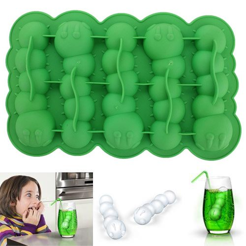 Caterpillar Chocolate Mold Mould Maker Cake Ice Tray Jelly Party Freeze Silicone (Ice Maker Replacement Tray)