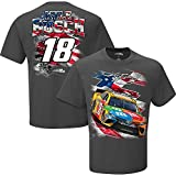 NASCAR Men's-USA-Driver Graphic T-Shirt-Kyle Busch #18-M&M's-Charcoal-Large
