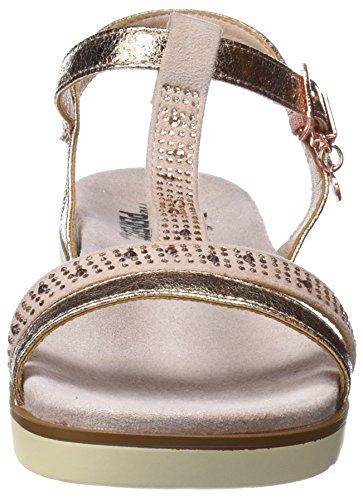 XTI Damen 47663 Knöchelriemchen Sandalen Pink (Nude)