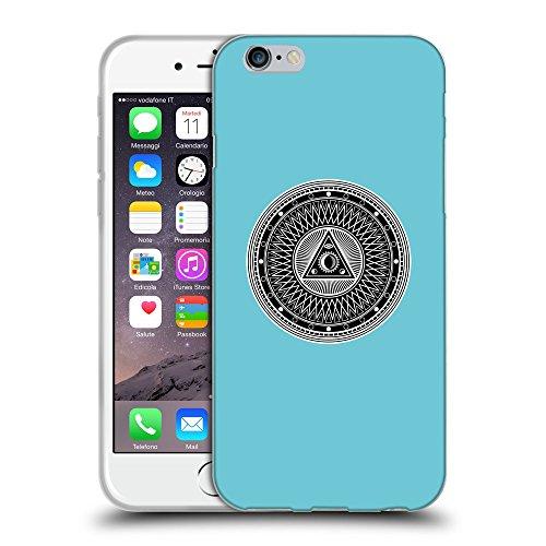 "GoGoMobile Coque de Protection TPU Silicone Case pour // Q08220627 Mystique occulte 1 Cyan // Apple iPhone 6 4.7"""