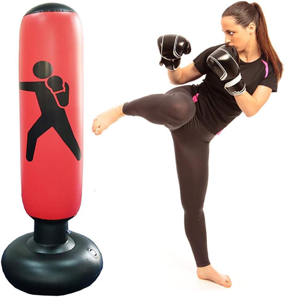 Zhouwei222 Sac de Boxe Frappe Gonflable Sac de Boxe pour Enfants Fitness Sac de Boxe autoportant avec Pompe /à air 63 Pouces