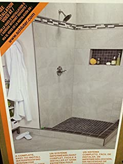 schluter kerdishower 72 in x 72 in pvc shower kit with oil