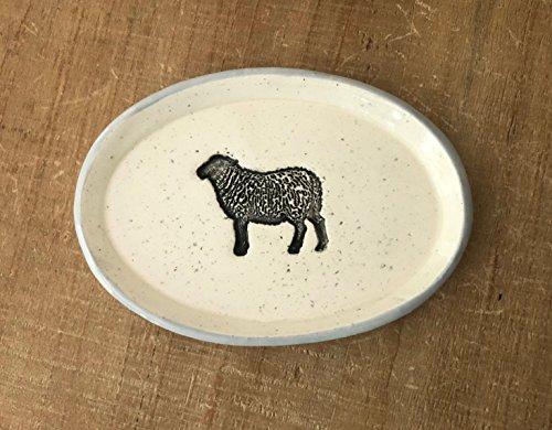 Farmhouse Inspired Black Sheep Dish, Handmade Pottery