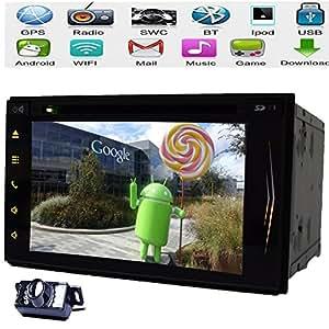 Android HD capacitiva Autoradio Mulit-pantalla tš¢ctil de 7 '' del coche No-DVD Autoradio GPS Car Stereo Radio 2 din pantalla tš¢ctil de coches estšŠreo RDS WiFi + Bluetooth + iPod + cš¢mara del coche coche reproductor de DVD estšŠreo