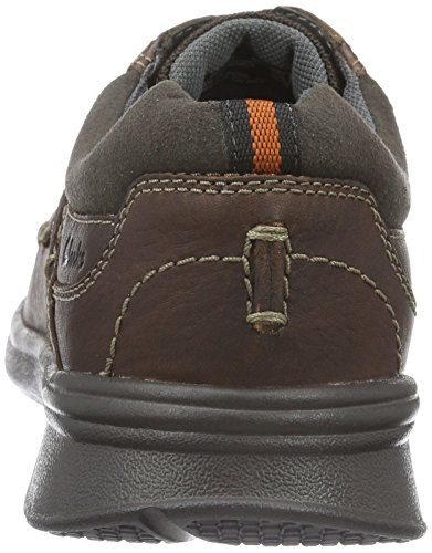 Clarks Cotrell Plain, Zapatos de Cordones Derby para Hombre Marrón (Brown Oily Leather)