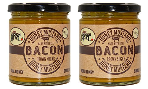 Bacon Brown Sugar Honey Mustard - Sauce, Dressing, Pretzel Dip - Mild - 2 Pack by Just Enough Heat