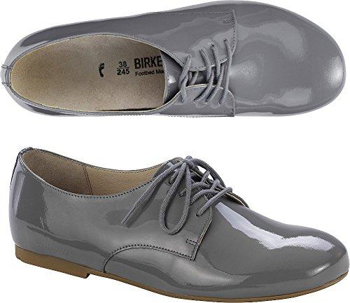 Birkenstock Saunders, Zapatos de Cordones Derby para Mujer Gris