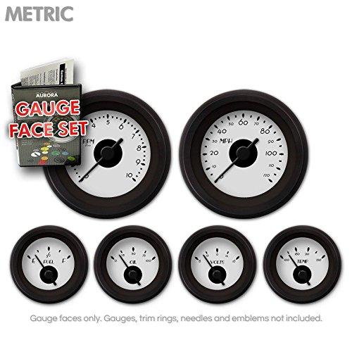 Red Ring Face, Red Vintage Needles, Black Bezels Aurora Instruments 4055 American Retro Rodder Speedometer Gauge