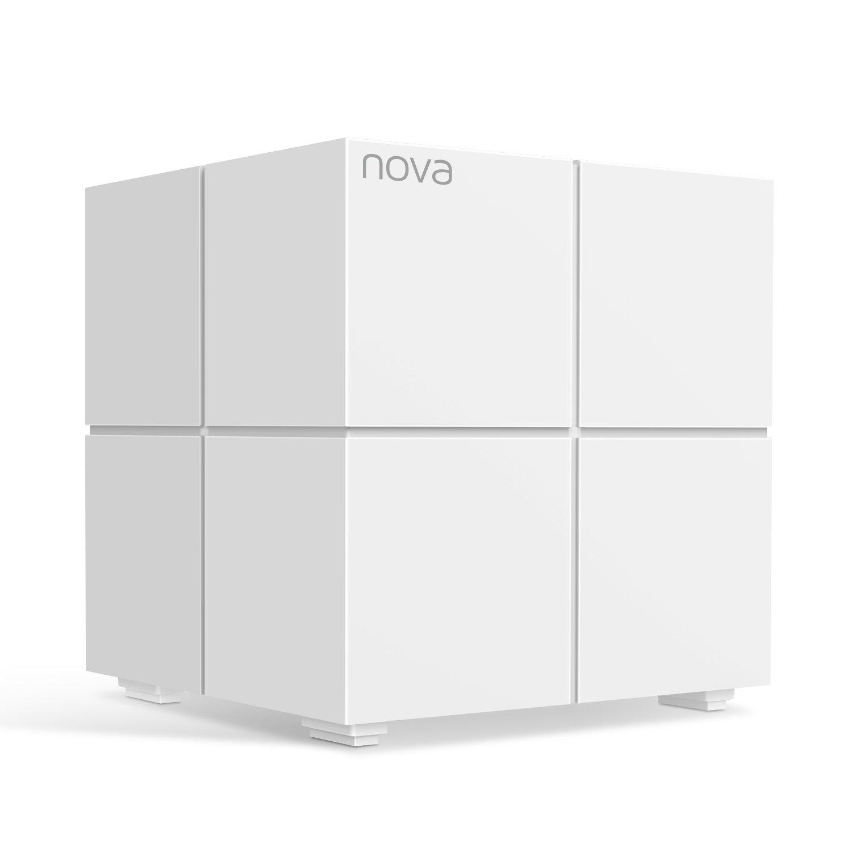 Tenda Nova MW6 Mesh Pack 1 Router Sistema WiFi de Red en Malla (Dual Band hasta 500 Metros, Mu-MIMO, 2 Puertos Gigabit, Plug and Play, Funciona con Alexa, sustituye tu Repetidor de Red Tradicional)