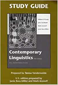 Contemporary Linguistics: An Introduction (Study Guide ...
