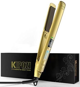Amazon.com: KIPOZI Pro Plancha plana con placas de iones de ...