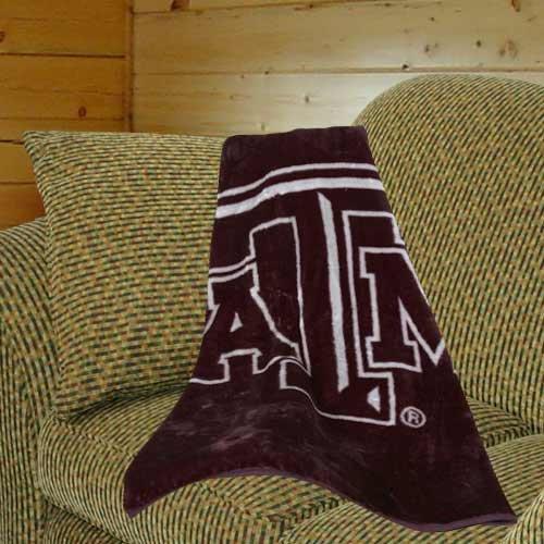- NCAA Texas A&M Aggies 50'' x 60'' Maroon-Gray Team Spirit Royal Plush Blanket Throw