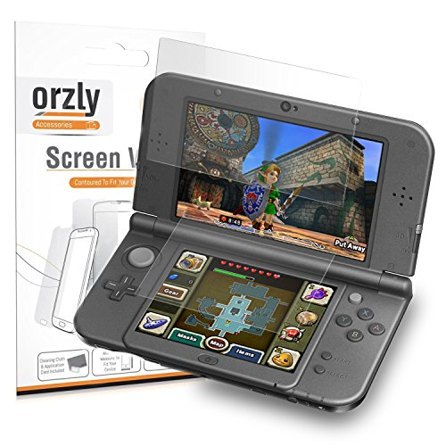 3Dsxl Screen Protectors  6Pcs   Orzly 3 In 1 Dual Screen Protector Pack  3 Top   3 Bottom  For Both Original   New Versions Of Nintendo 3Ds Xl   Ultra Clear Transparent Pet Film Screen Protectors