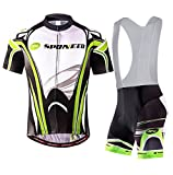 Best Cycling Bib Shorts - sponeed Men's Cycling Jersey Bib Shorts Tshirt Bicycle Review