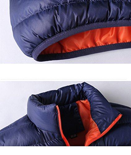 Bleu Mode Automne À Orange En La Homme Veste Hiver Pp Et Coton Blouson Chaud 7xgPR6