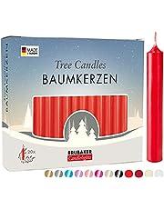 BRUBAKER Wielopak Świece Choinkowe z Wosku - Świece Bożonarodzeniowe na Świece Piramidowe i Dekoracje - Różne Kolory