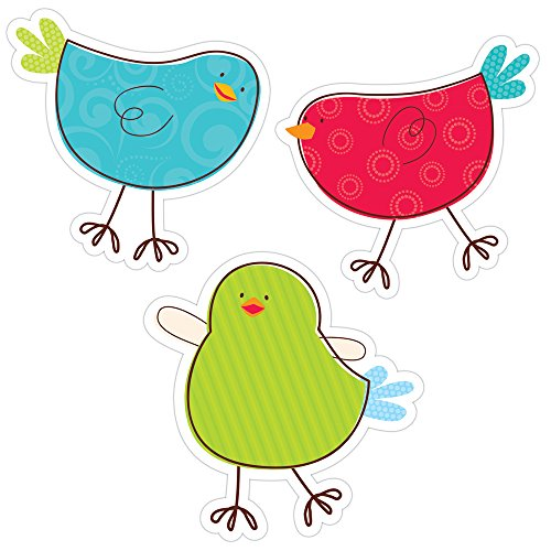 Creative Teaching Press 10-Inch Jumbo Designer Cut-Outs, Tweeting Birds (6247)
