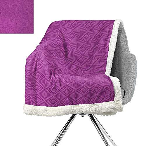 (Magenta Berber Fleece Blanket,Turning Rotary Spiral Tile Twist Symmetrical Spinning Plural Motion Modern Image,Bubblegum,Warm All Season Blanket for W59xL31.5 Inch)