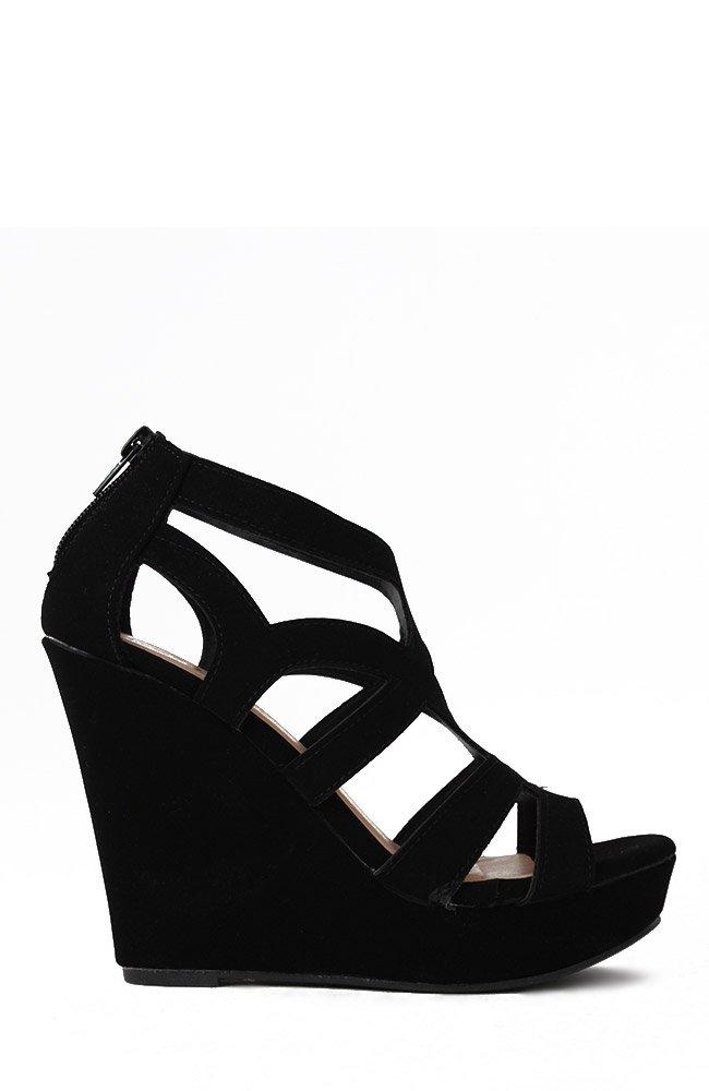 Top Moda Womens Ella-15 Fashion Wedge Sandals, Black 9 by Top Moda (Image #2)