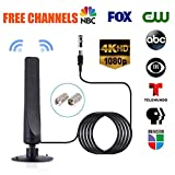 50 Mile Aerial TV Antenna, leegoal 12dbi High Gain Freeview Indoor& Outdoor TV