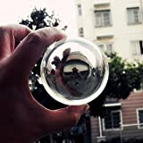 DSJUGGLING Clear Acrylic & Metal Contact Fushigi Ball 75mm - 3'' Magic Gravity Juggling Ball Packed with Protective Bag
