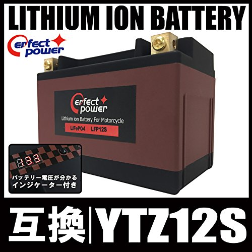 PERFECT POWER リチウムイオンバッテリー LFP12S 互換 ユアサ YTZ12S FTZ12S TTZ12S DTZ12-BS フォルツァZ X MF06 MF08 MF10 PS250 MF09 シルバーウイング PF01 NF01 CBR1100XX ブラックバード SC35 B012QZEQ5Q