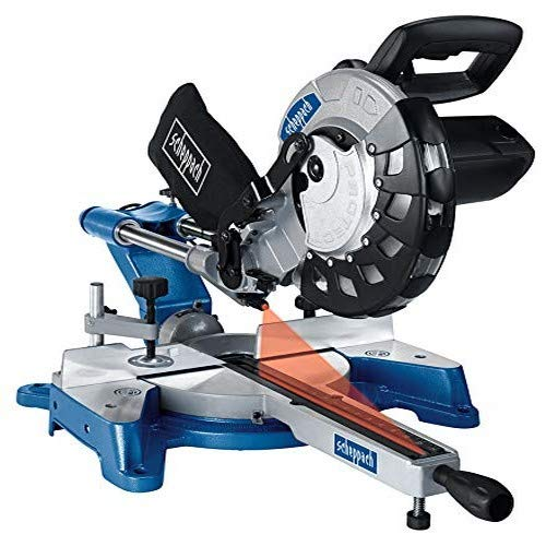 Scheppach 590 1202 901 240 V 10-Inch 254 mm Sliding Mitre Saw-Grey/Blue, 2000 W