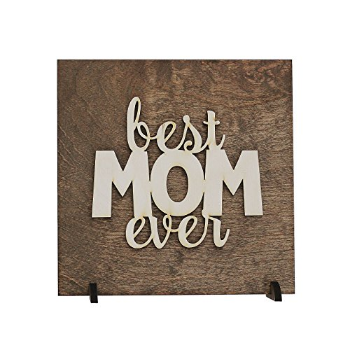 Best Mom Ever Sign from Kids, Son or Daughter, Gift for Mother's Day, Christmas, Birthday Present