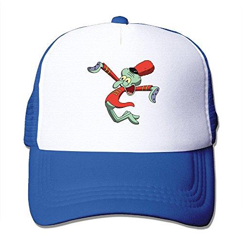 Spongebob Krusty Krab Hat (Cool Sponge Bob Squarepants Squidward Tentacles Trucker Mesh Baseball Cap Hat RoyalBlue)