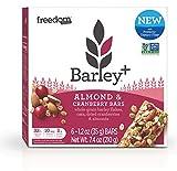 Barley+ Multi Fiber Muesli Bars (Almond & Cranberry) - 1 Box, 6 X 1.2oz Bars