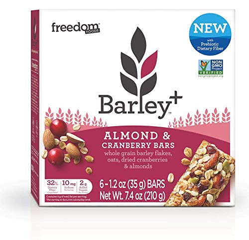 (Barley+ Multi Fiber Muesli Bars (Almond & Cranberry) - 1 Box, 6 X 1.2oz Bars)